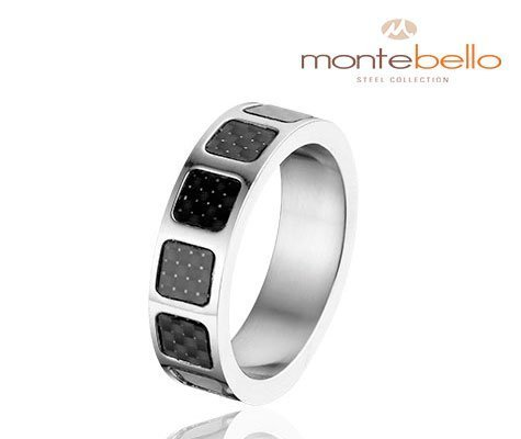 Montebello Ring Marco - Heren - 316L Staal - Carbon - 7 mm-4924