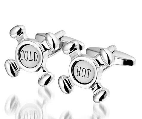 Montebello Manchetknoppen Hot & Cold - Heren - Metaal - ∅22 mm -0