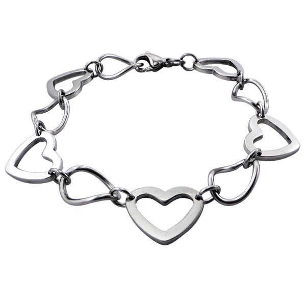 Montebello Armband Vina - Dames - 316L Staal - Hart - 20 cm-0