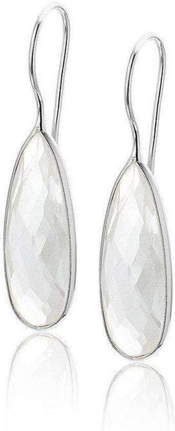 Montebello Oorbellen Dienia - 925 Zilver Gerhodineerd - Kristal - 40mm-0