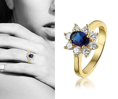 Galeola, vergulde zilveren ring - Montebello sieraden-0