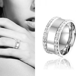 Hebe, edelstalen ring - Montebello juwelen-0