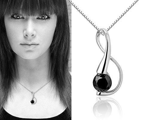 Lycopus, zilveren ketting - Montebello juwelen-0