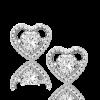 Montebello Oorbellen Melinis - Dames - Zilver Gerhodineerd - Zirkonia - Hart - 5 x 5 mm-7628