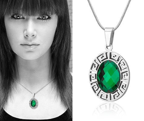 Montebello Ketting Nepeta - Dames - 316L Staal - Ovaal - 18mm - 45cm-6818