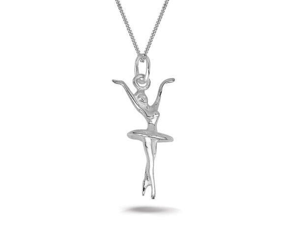 Montebello Ketting Ballerina - 925 Sterling Zilver - 11x25mm - 45cm-0