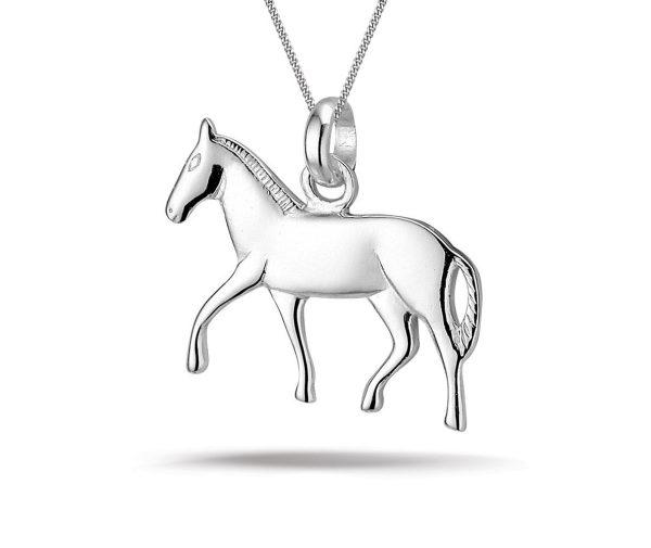 Montebello Ketting Pony - 925 Zilver Gerhodineerd - Paard - 20x18mm - 45cm-0