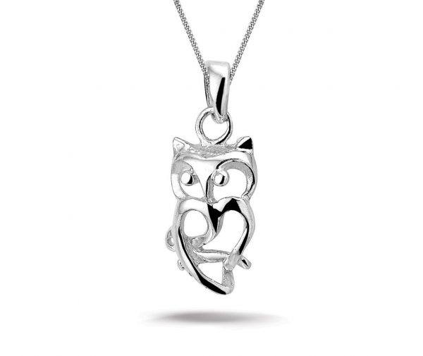Montebello Ketting Owl S - Dames - 925 Zilver - Uil - 10 x 20 mm - 45 cm-0