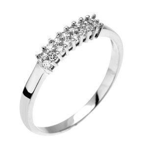 Montebello Ring Pachira - Zilver Gerhodineerd - Zirkonia -0