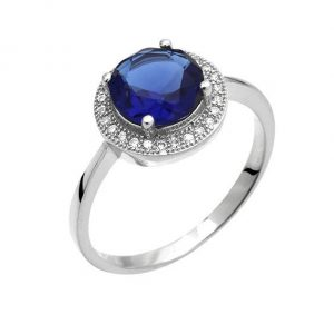 Montebello Ring Palaua - Dames - Zilver Gehrodineerd - Zirkonia - ∅11 mm -0
