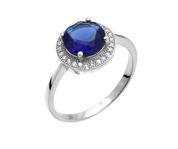 Montebello Ring Palaua - Dames - Zilver Gehrodineerd - Zirkonia - ∅11 mm -0