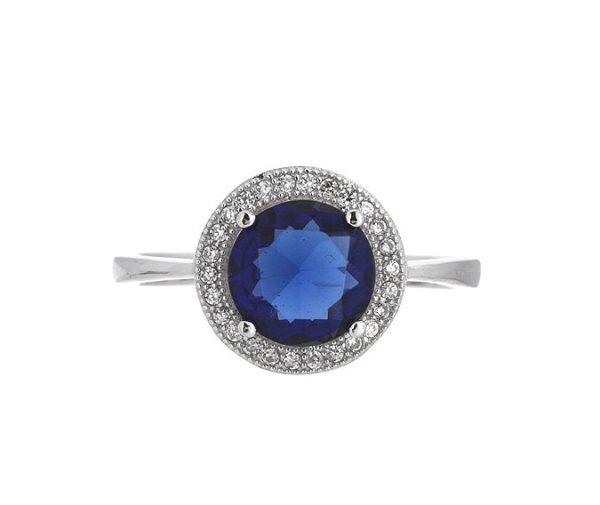 Montebello Ring Palaua - Dames - Zilver Gehrodineerd - Zirkonia - ∅11 mm -7069