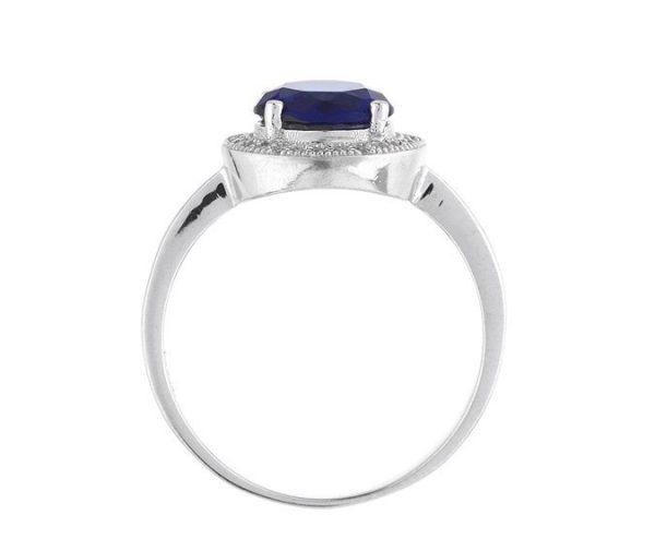 Montebello Ring Palaua - Dames - Zilver Gehrodineerd - Zirkonia - ∅11 mm -7070
