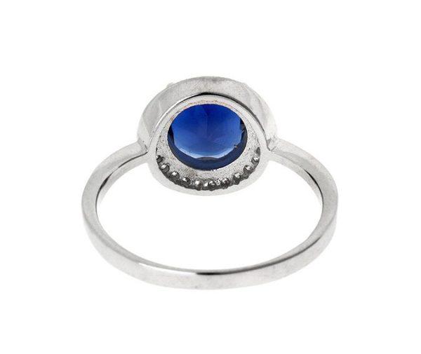 Montebello Ring Palaua - Dames - Zilver Gehrodineerd - Zirkonia - ∅11 mm -7067