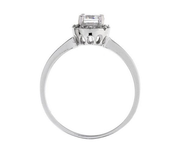 Montebello Ring Palmorchis - Dames - Zilver Gehrodineerd - Zirkonia - ∅ 7 mm -7077