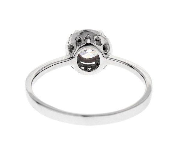 Montebello Ring Palmorchis - Dames - Zilver Gehrodineerd - Zirkonia - ∅ 7 mm -7079