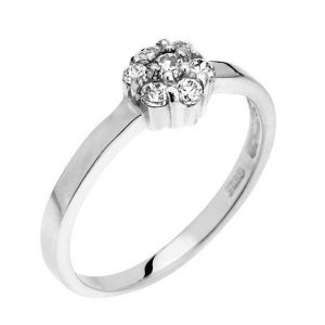 Montebello Ring Panicum - Dames - Zilver Gehrodineerd - Zirkonia - ∅7 mm -0
