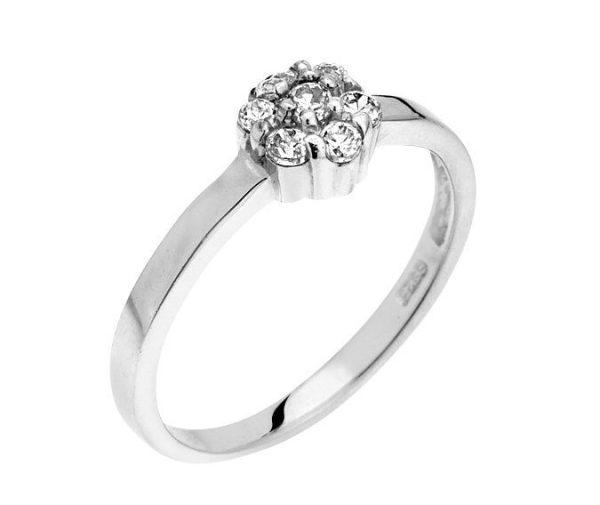 Montebello Ring Panicum - Dames - Zilver Gehrodineerd - Zirkonia - ∅7 mm -0
