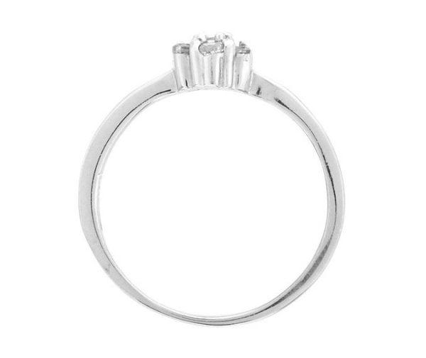 Montebello Ring Panicum - Dames - Zilver Gehrodineerd - Zirkonia - ∅7 mm -7085