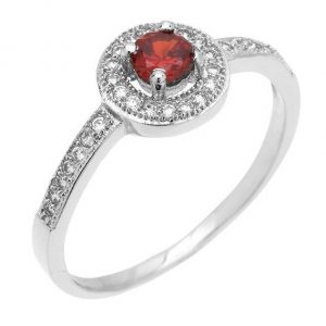 Montebello Ring Paradisea - Dames - Zilver Gehrodineerd - Zirkonia - ∅7 mm-0