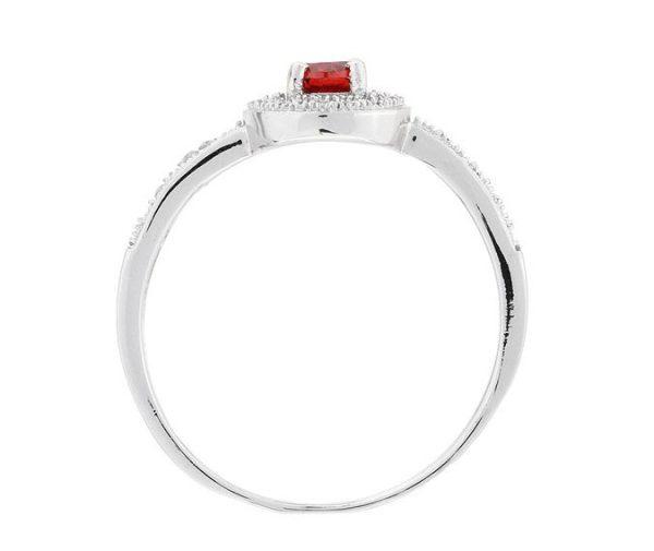 Montebello Ring Paradisea - Dames - Zilver Gehrodineerd - Zirkonia - ∅7 mm-7094