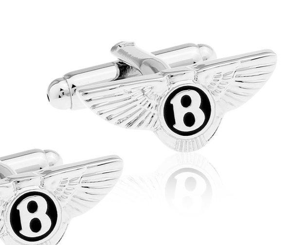 Montebello Manchetknopen Bentley - 316L Staal - Autologo - 25x12mm-0