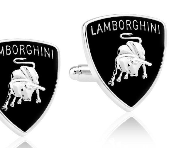Montebello Manchetknopen Lamborghini - 316L Staal - Auto logo - 18x22mm-0