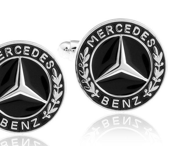 Montebello Manchetknopen Mercedes - Heren - Metaal - Rond - ∅16 mm-0