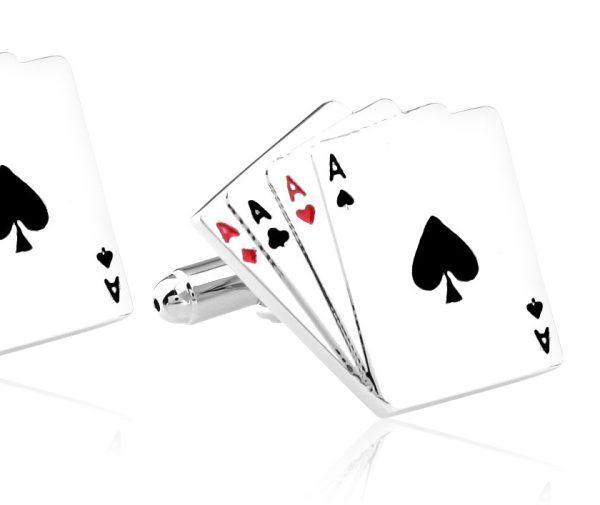 Montebello Manchetknopen Poker - Heren - Metaal - 10 x 10 mm-0