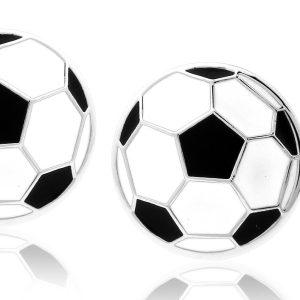 Montebello Manchetknopen Voetbal - Heren - Staal - Sport - ∅17mm-0