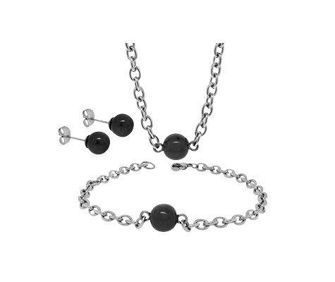 Montebello Set Polytoca - Dames - 316L Staal - Oorbellen - Armband - Ketting - 3-delig-0
