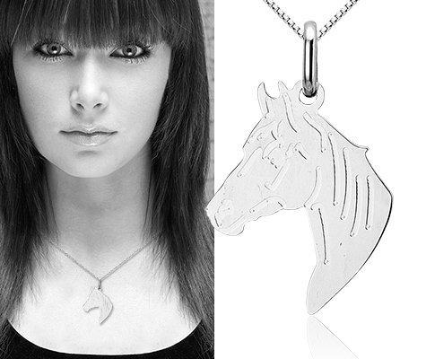 Montebello Ketting Paard - 925 Zilver Gerhodineerd - 20x30mm - 45cm-7594