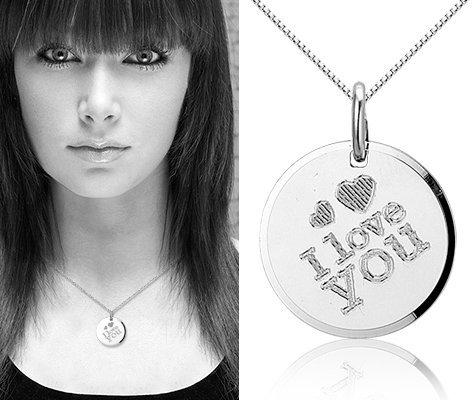 Love You S, zilveren hanger met ketting - Montebello juwelen-0