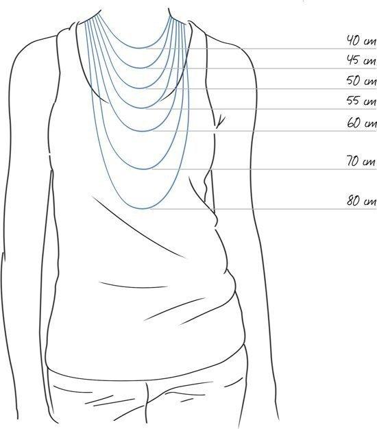 Love You S, zilveren hanger met ketting - Montebello juwelen-21580