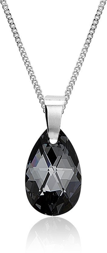 Montebello Ketting Prenanthes - Dames - 925 Zilver - SWAROVSKI ELEMENTS™ - Druppel - 45 cm-0