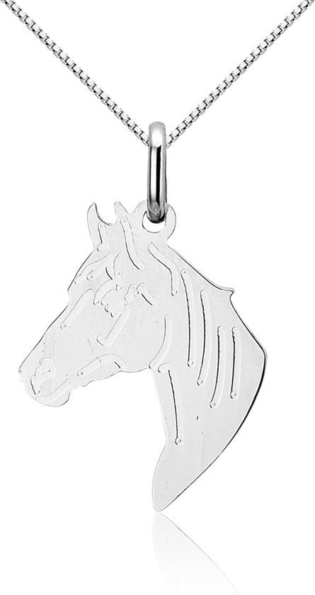 Montebello Ketting Paard - 925 Zilver Gerhodineerd - 20x30mm - 45cm-0