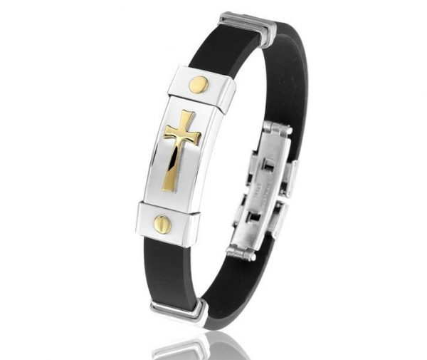 Montebello Armband Rosa - Heren - Staal - Rubber - ∅65 mm-0