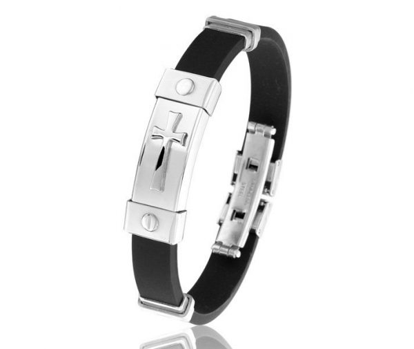 Montebello Armband Rorippa - Heren - Staal - Rubber - ∅65 mm-0