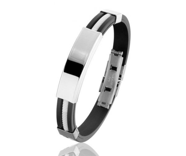 Montebello Armband Rumex - Heren - 316L Staal - Siliconen - 20 cm-0