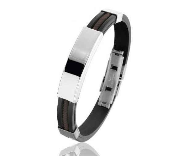 Montebello Armband Runcaria - Heren - 316L Staal - Siliconen-20cm-0