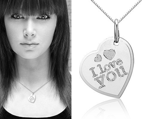 Montebello Ketting Love You - Dames - Zilver Gerhodineerd - Hart - 14 x 20 mm - 45 cm-7618