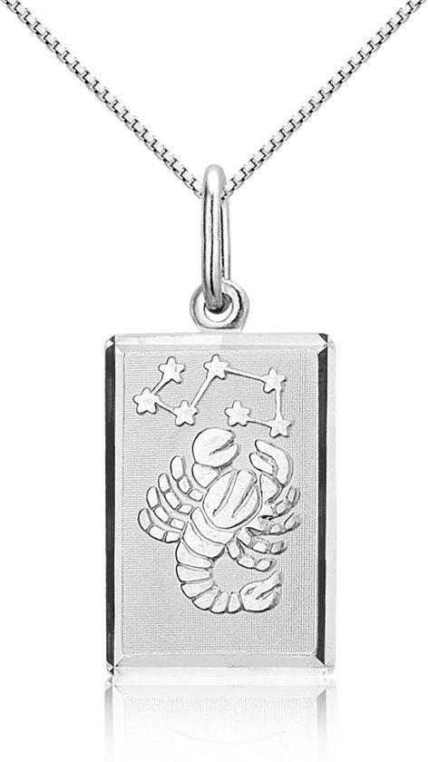 Montebello Ketting Schorpioen - Dames - Zilver Gerhodineerd - Horoscoop - 12 x 25 mm - 45 cm-0