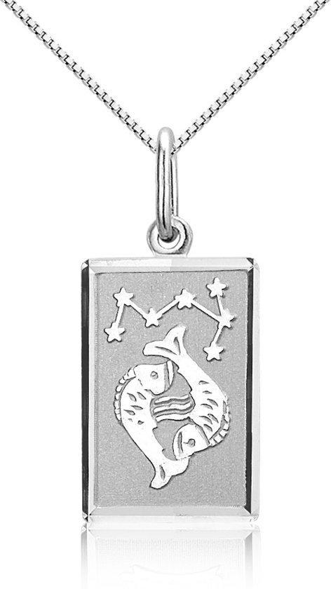 Montebello Ketting Vissen - Dames - Zilver Gerhodineerd - Horoscoop - 12 x 25 mm - 45 cm-0