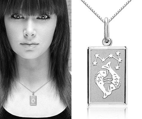 Montebello Ketting Vissen - Dames - Zilver Gerhodineerd - Horoscoop - 12 x 25 mm - 45 cm-7624