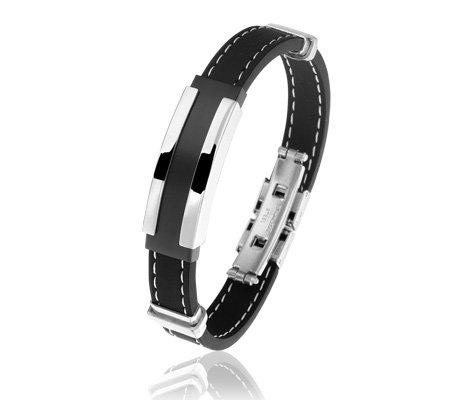 Montebello Armband Salvinia - Heren - 316L Staal - Siliconen - 20 cm-0
