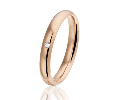 Montebello Ring Sedum - Dames - 316L Staal - Zirkonia - Trouw - 3 mm -0