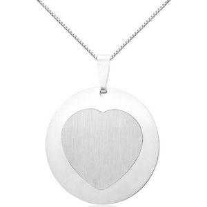Montebello Ketting Satyrium - Dames - Zilver Gerh. - Hart - ∅22 mm - 45 cm-0