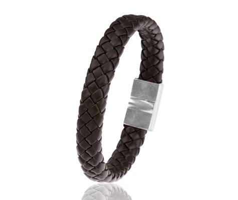 Montebello Armband Senra - Mannen - PU Leer - Bruin - 21.5 cm-0