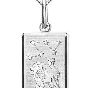 Montebello Ketting Leeuw - Unisex - Zilver Gerhodineerd - Horoscoop - 12 x 25 mm - 45 cm-0
