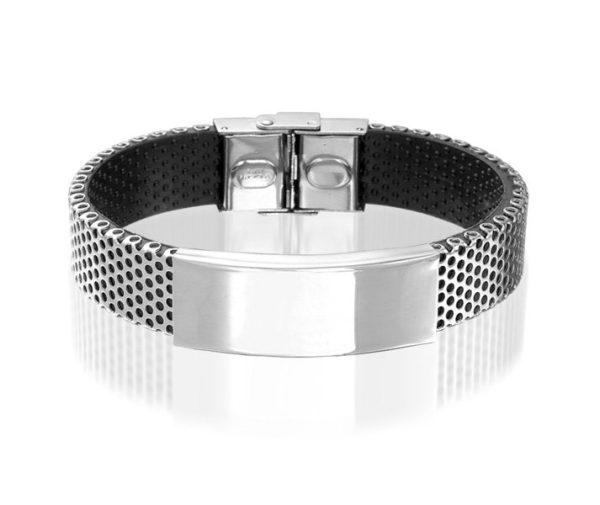 Montebello Armband Seutaria - Heren - Siliconen - Staal - 20 mm-0